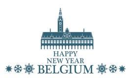 Cartolina d'auguri belgium Fotografia Stock Libera da Diritti