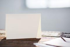 Cartolina d'auguri in bianco dell'invito Fotografie Stock