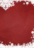 Cartolina d'auguri in bianco di Natale Fotografie Stock