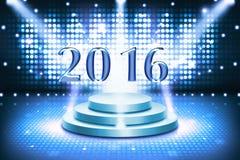 Cartolina d'auguri 2016 buoni anni Fotografia Stock