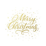 Cartolina d'auguri calligrafica di Buon Natale Fotografia Stock