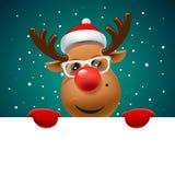 Cartolina d'auguri, cartolina di Natale con la renna royalty illustrazione gratis