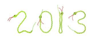 Cartolina d'auguri con 2013 Fotografie Stock