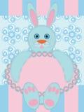 Cartolina d'auguri con coniglio Fotografia Stock