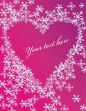 Cartolina d'auguri con cuore Immagini Stock Libere da Diritti