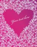 Cartolina d'auguri con cuore Fotografia Stock Libera da Diritti