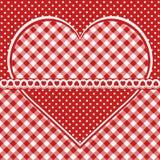 Cartolina d'auguri con cuore a quadretti Immagine Stock Libera da Diritti