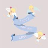 Cartolina d'auguri con gli angeli illustrazione di stock