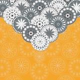 Cartolina d'auguri con gli ornamenti orientali Fotografie Stock