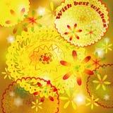 Cartolina d'auguri con i cerchi decorativi royalty illustrazione gratis