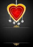 Cartolina d'auguri con i diamanti Fotografia Stock