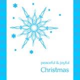 Cartolina d'auguri con i fiocchi di neve Illustrazione Vettoriale