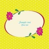 Cartolina d'auguri con i fiori Royalty Illustrazione gratis