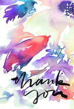 Cartolina d'auguri con i fiori Fotografia Stock