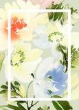 Cartolina d'auguri con i fiori Immagine Stock Libera da Diritti