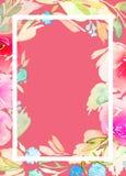 Cartolina d'auguri con i fiori Fotografia Stock Libera da Diritti