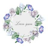 Cartolina d'auguri con i fiori illustrazione vettoriale