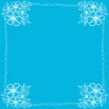 Cartolina d'auguri con i fiori e la struttura quadrata Fotografia Stock Libera da Diritti