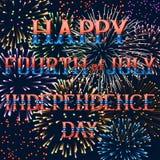 Cartolina d'auguri con i fuochi d'artificio Immagini Stock Libere da Diritti