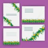 Cartolina d'auguri con i tulipani, formato quadrato Giorno internazionale di Women's 8 marzo Fotografia Stock Libera da Diritti