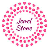 Cartolina d'auguri con il gioiello del diamante Immagine Stock Libera da Diritti