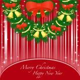 Cartolina d'auguri con il nuovo anno ed il Natale. Immagini Stock Libere da Diritti