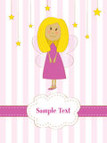 Cartolina d'auguri con il piccolo fairy Fotografie Stock Libere da Diritti