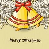 Cartolina d'auguri con Jingle Bells per la celebrazione di Natale Immagini Stock Libere da Diritti