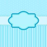 Cartolina d'auguri con l'etichetta in bianco Fotografie Stock