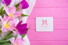 Cartolina d'auguri con l'iscrizione Fotografia Stock
