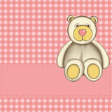 Cartolina d'auguri con l'orso Fotografia Stock Libera da Diritti