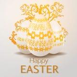 Cartolina d'auguri con la festa di Pasqua Fotografia Stock