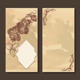 Cartolina d'auguri con la struttura e l'orchidea Fotografia Stock