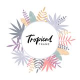 Cartolina d'auguri con la struttura tropicale royalty illustrazione gratis
