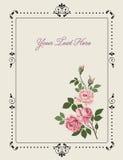Cartolina d'auguri con le rose Fotografie Stock