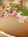 Cartolina d'auguri con le rose dettagliate ENV 10 Fotografie Stock Libere da Diritti