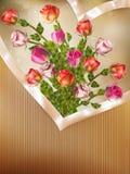Cartolina d'auguri con le rose dettagliate ENV 10 Fotografia Stock Libera da Diritti