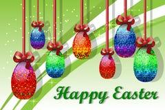 Cartolina d'auguri con Pasqua Fotografia Stock