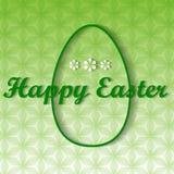 Cartolina d'auguri con Pasqua Fotografie Stock Libere da Diritti