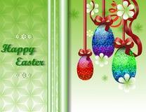 Cartolina d'auguri con Pasqua Fotografia Stock Libera da Diritti