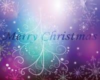 Cartolina d'auguri con un albero di Natale royalty illustrazione gratis