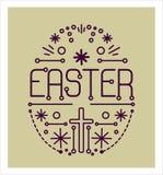 Cartolina d'auguri con una Pasqua felice Immagini Stock Libere da Diritti