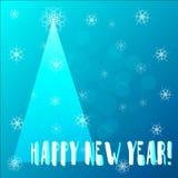 Cartolina d'auguri d'annata del nuovo anno Fotografie Stock
