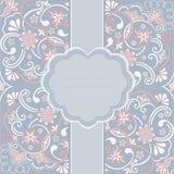 Cartolina d'auguri d'annata dell'ornamento Immagine Stock