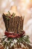 Cartolina d'auguri d'annata di Natale Fotografie Stock Libere da Diritti