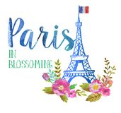 Cartolina d'auguri da Parigi Fotografia Stock Libera da Diritti