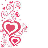 Cartolina d'auguri decorata floreale per il San Valentino Immagini Stock
