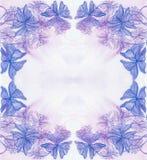 Cartolina d'auguri decorativa dell'acquerello con le foglie porpora Fotografia Stock
