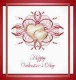 Cartolina d'auguri dei biglietti di S. Valentino con cuore. Fotografia Stock