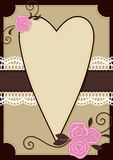 Cartolina d'auguri del biglietto di S. Valentino Immagine Stock Libera da Diritti